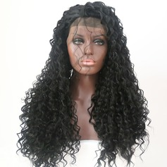 Curly Syntetisk Lace Front Parykker 300g