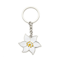 Personalized Flower Design Zinc Alloy Keychains