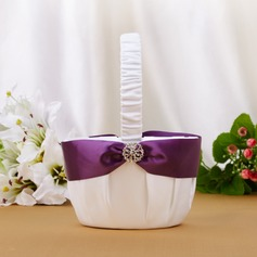 Pretty Flower Basket With Rhinestones/Sash (102039776)