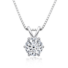Ladies' Classic 925 silver and chain Moissanite Monogram Necklaces/Initial Necklaces Necklaces