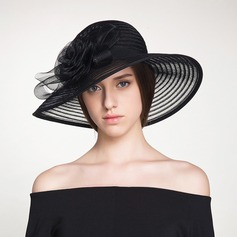 Ladies' Beautiful/Elegant Polyester With Flower Floppy Hat/Kentucky Derby Hats