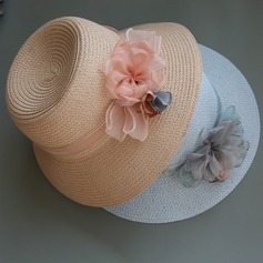 Ladies' Special/Elegant/Simple Raffia Straw With Flower Straw Hat
