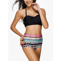 Colorful Halter Bikini Swimsuit