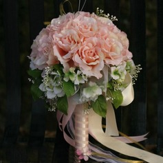 Sweet Round Satin Bridal Bouquets