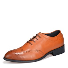 Men's Microfiber Leather Brogue Casual Men's Oxfords