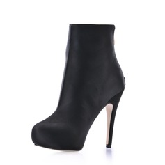 Silk Stiletto Heel Platform Closed Toe Ankle Boots shoes
