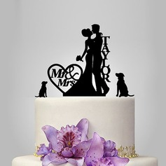 Personalized Classic Couple Acrylic Cake Topper (119118730)
