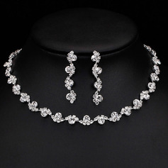 Ladies' Fashionable Alloy/Rhinestones Jewelry Sets