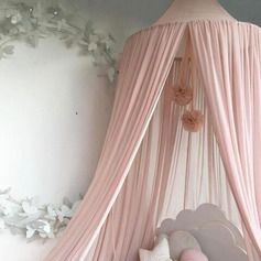 Cotton Canvas Dome Princess Bed Canopy Kids Play Tent Mosquito Net Children's Room Decorate for Baby Kids Indoor Outdoor Playing Reading (Sold in a single piece)