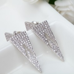 Exotic Copper/Zircon/Platinum Plated Women's/Ladies' Earrings