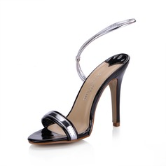 Patent Leather Stiletto Heel Sandals Slingbacks shoes
