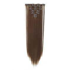5A Virgin/remy Straight Human Hair Clip in Hair Extensions 7pcs 130g (235145478)