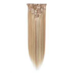 5A Virgin/remy Straight Human Hair Clip in Hair Extensions 7pcs 130g