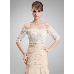 Half-Sleeve Lace Special Occasion Wrap