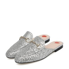 Women's Sparkling Glitter Flat Heel Flats Closed Toe With Sparkling Glitter shoes