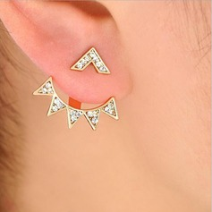 Beautiful Alloy Rhinestones With Rhinestone Women's Fashion Earrings (Set of 2)