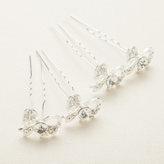 Gorgeous Alloy/Austrian Crystal Hairpins(Set of 4) (042065803)