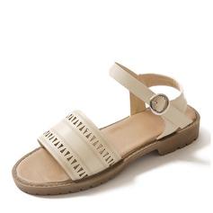 De mujer Cuero Tacón plano Sandalias Planos con Hebilla zapatos