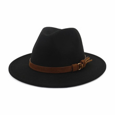 Men's Classic/Simple Wool Blend Fedora Hats (196220665)