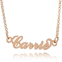 Custom 18k Rose Gold Plated Carrie Nameplate Name Necklace (288211301)