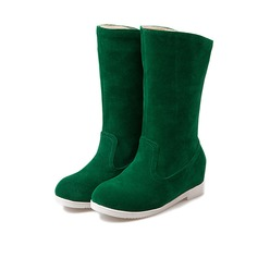 Women's Suede Flat Heel Boots Snow Boots shoes