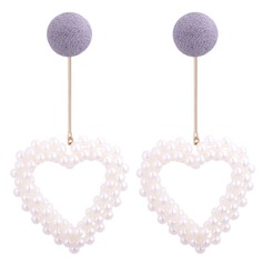 Chic Imitation Pearls Copper With Imitation Pearl Women's Fashion Earrings (Set of 2)