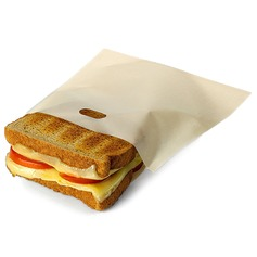 Modern Non Stick Reusable Toaster Bags for Sandwich and Grilling (Set of 3) Non-personalized Gifts