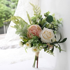 Elegant Free-Form Satin Bridal Bouquets/Bridesmaid Bouquets (Sold in a single piece) - (123169527)