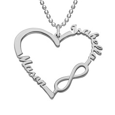 Personalized Ladies' Lovely Gold Plated/Silver Plated/Rose Gold Plated Name Necklaces Necklaces For Bridesmaid/For Friends/For Couple