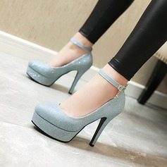 المرأة بو كعب ستيليتو مضخات منصة مع مشبك أحذية