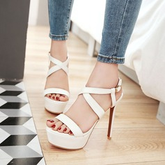 Patent Leather Stiletto Heel Sandals Pumps Platform Peep Toe With Others shoes