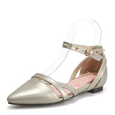 Women's Leatherette Flat Heel Sandals Flats Closed Toe Mary Jane With Rivet shoes (086168526)