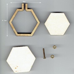 Wooden mini hexagon cross stitch fixed frame