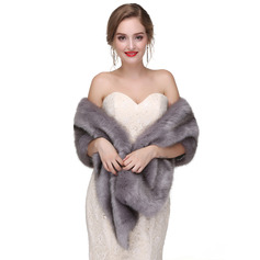 Faux Fur Wedding Shawl (013218356)
