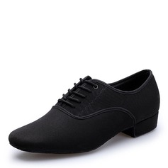 Men's Stretch Canvas Flats Latin Dance Shoes
