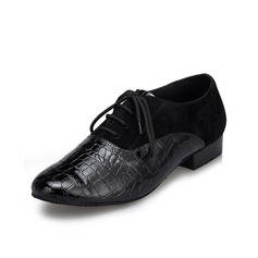 Men's Leatherette Suede Flats Latin Ballroom Swing Practice Character Shoes Dance Shoes