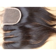 "4""*4"" 4A Non remy Straight Human Hair Closure (Sold in a single piece) 100g"