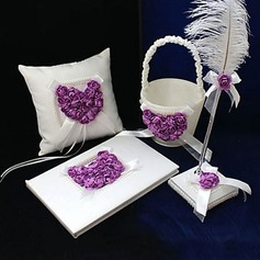 Lilac Rose Heart Designed Collection Set in Satin (100017969)