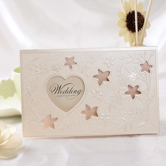 Heart Stil Tri-Fold Invitation Cards