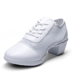Women's Leatherette Mesh Modern Jazz Sneakers Dance Shoes