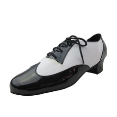Men's Leatherette Pumps Latin Ballroom Swing Practice Character Shoes With Lace-up Dance Shoes