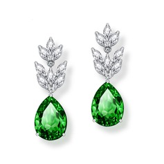Elegant Alloy/Zircon With Cubic Zirconia Ladies' Earrings (011166008)