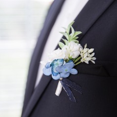 Gorgeous Free-Form Satin/Fabric Boutonniere (Sold in a single piece) -