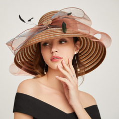 Ladies' Glamourous/Classic Papyrus With Bowknot Beach/Sun Hats/Kentucky Derby Hats/Tea Party Hats