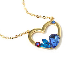 Ladies' Heart Shaped Crystal/Copper With Pear Crystal Necklaces For Her