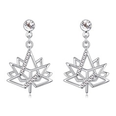 Charming Alloy/Crystal With Crystal Ladies' Earrings