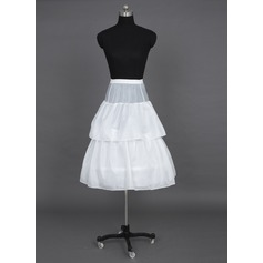 Girls Tulle Netting/Taffeta Floor-length 2 Tiers Petticoats (037024153)