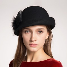Elegant Wool With Silk Flower Beret Hat