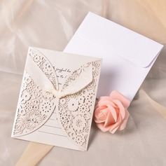 Classic Style Gate-Fold Invitation Cards With Ribbons