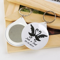 Personalized Swan Design Plastic Keychains/Compact Mirror